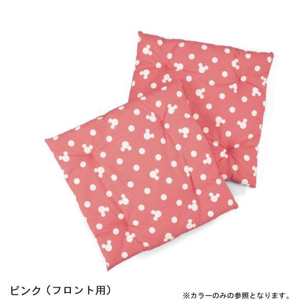 カーシートクッション カー用品 カーグッズ ディズニー 日本製 ネイビー リア用・1枚|bellemaison|05