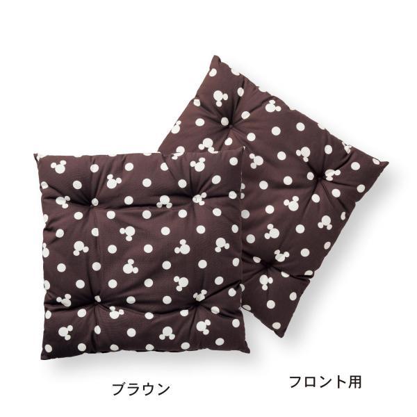カーシートクッション カー用品 カーグッズ ディズニー 日本製 ネイビー リア用・1枚|bellemaison|06