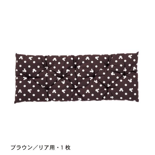 カーシートクッション カー用品 カーグッズ ディズニー 日本製 ネイビー リア用・1枚|bellemaison|07
