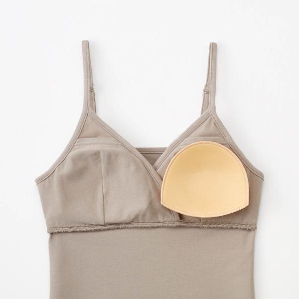 授乳キャミ 産後 授乳 キャミソール 下着 インナー ブラキャミ クロスオープン 綿混 ブラック M L LL bellemaison 06