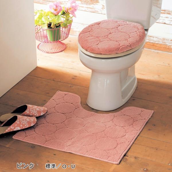 トイレマットセット 洗える トイレマット フタカバー セット 2点セット おしゃれ シンプル ふかふか 滑りにくい 抗菌 防臭 新生活 標準 温水洗浄 ベージュ|bellemaison|05
