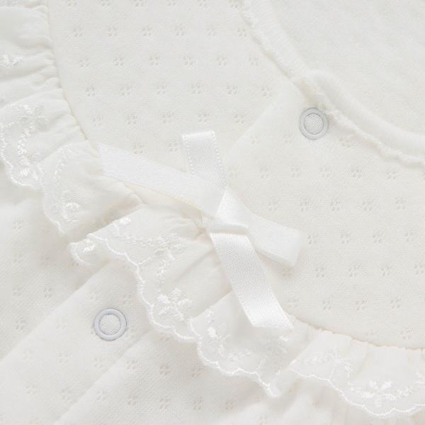 男の子・女の子フード付きニットキルトドレスオール 「オフホワイト」(50〜70)|bellemaison|02