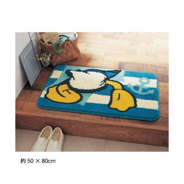 ディズニー 洗える玄関マット/ドナルドダック 「約40×65」|bellemaison