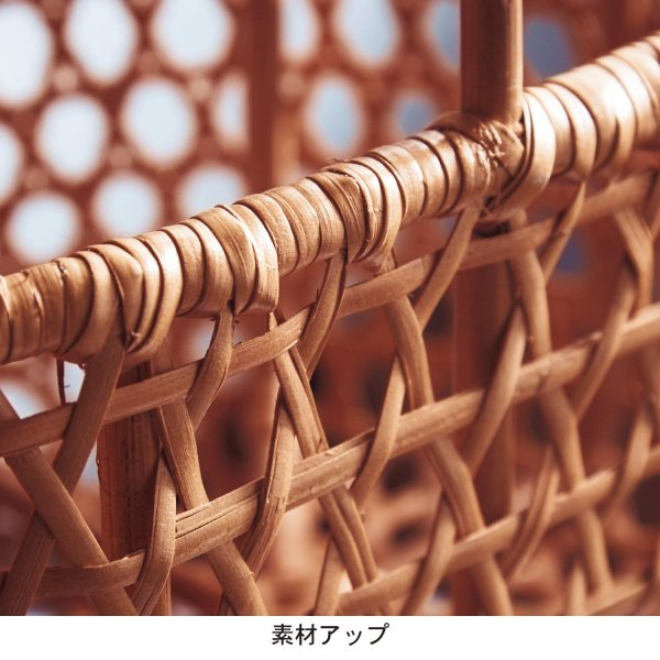 フリーボックス 小物収納ケース ベルメゾン りんごかご風バスケット 大|bellemaison|06