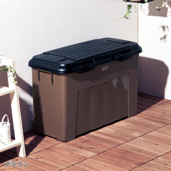 ゴミ箱 ベランダ 屋外 分別 大容量 2分別 ペール ネイビー|bellemaison|02