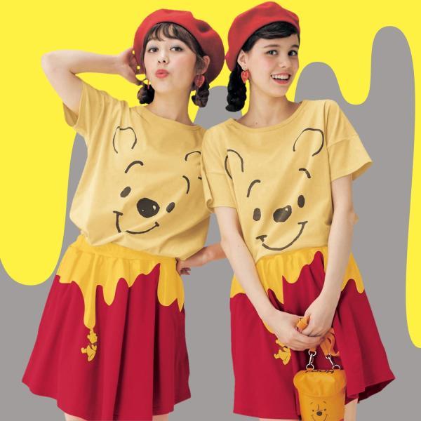 Tシャツ カットソー プルオーバー レディース ディズニー ビッグシルエットフェイスTシャツ(レディース) 「ダッキー(イエロー)」 bellemaison 02