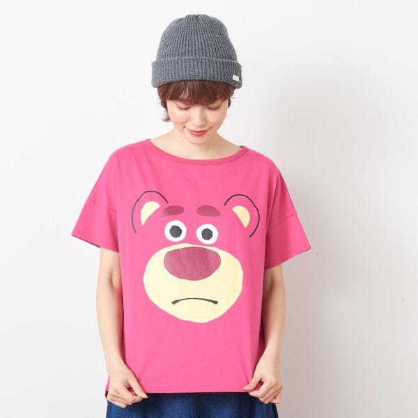 Tシャツ カットソー プルオーバー レディース ディズニー ビッグシルエットフェイスTシャツ(レディース) 「ダッキー(イエロー)」 bellemaison 18