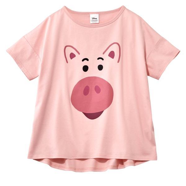 Tシャツ カットソー プルオーバー レディース ディズニー ビッグシルエットフェイスTシャツ(レディース) 「ダッキー(イエロー)」 bellemaison 03