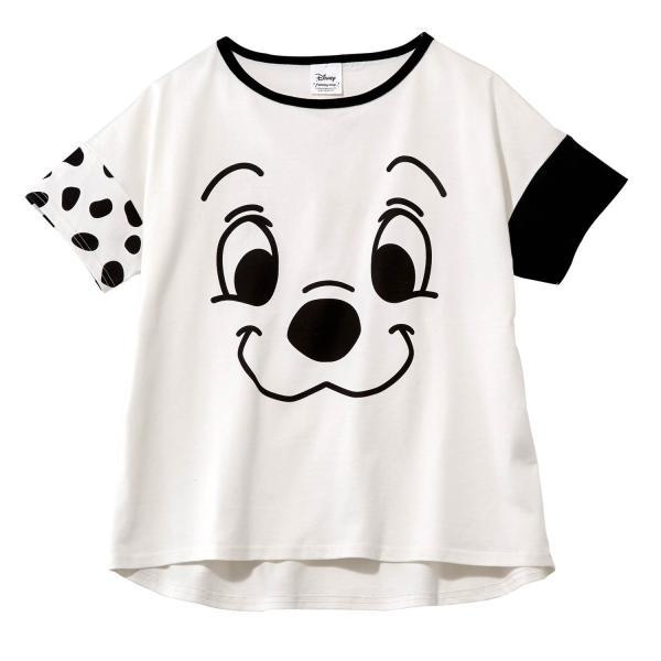 Tシャツ カットソー プルオーバー レディース ディズニー ビッグシルエットフェイスTシャツ(レディース) 「ダッキー(イエロー)」 bellemaison 08