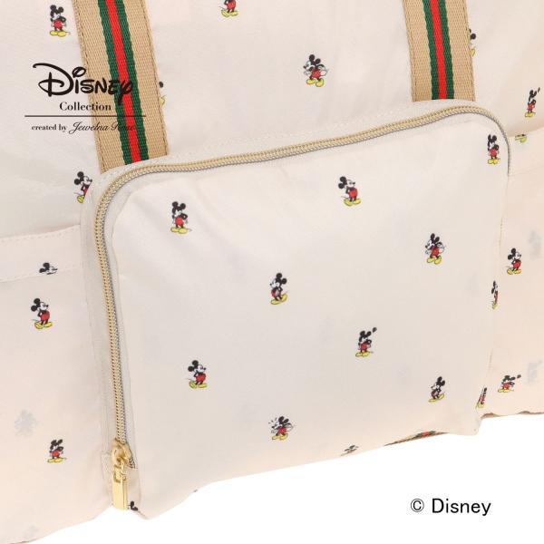 バッグ カバン 鞄  ディズニー ミッキーマウス メニーフェイシズ/折り畳みできてトラベルに最適 ボストンバッグ 「ベージュ」