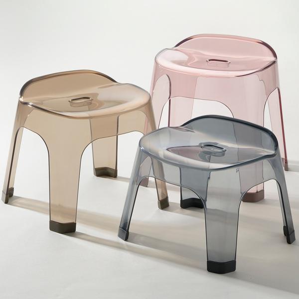 ニュアンスカラーが美しい風呂桶&バスチェアセット ピンク 35cm