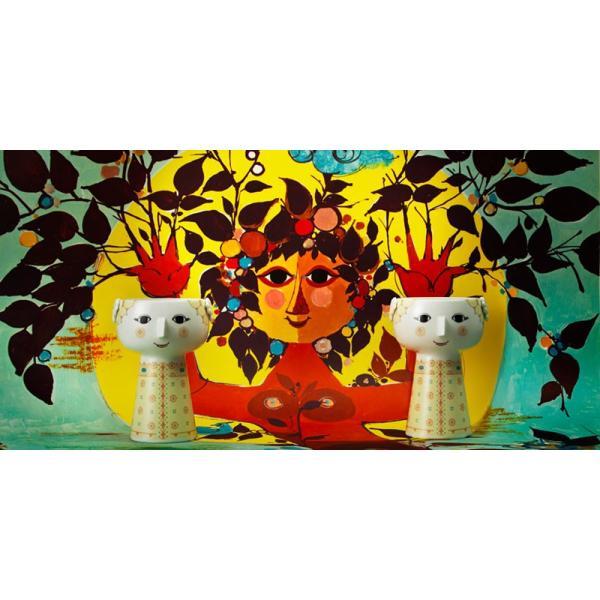 花瓶  北欧 ビヨン・ヴィンブラッド エバ・ベース ソフトイエロー 56510 日本正規代理店品 ギフト Bjorn Wiinblad|bellemessage|05
