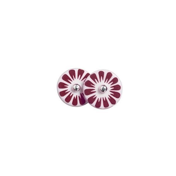 北欧雑貨 アクセサリー 磁器 ピアス シェアニング Scherning BLOOM ブルーム ピンピアス カラー:ルビー BM-1101-Rデンマーク|bellemessage