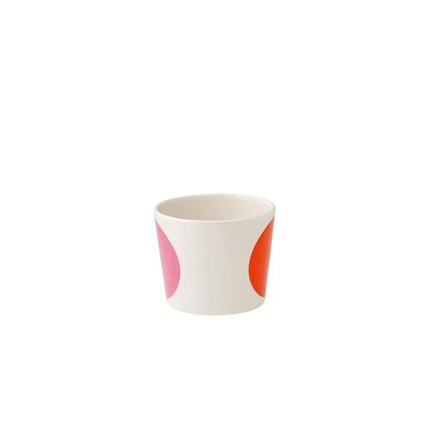 ボウル 陶器 北欧 ヘルバック HELBAK MEGA DOT container (S) H:7cm カラー:ピンク&オレンジ MD13-02 カップ ボウル 陶器 北欧雑貨|bellemessage