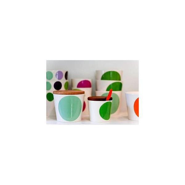 ボウル 陶器 北欧 ヘルバック HELBAK MEGA DOT container (S) H:7cm カラー:ピンク&オレンジ MD13-02 カップ ボウル 陶器 北欧雑貨|bellemessage|02