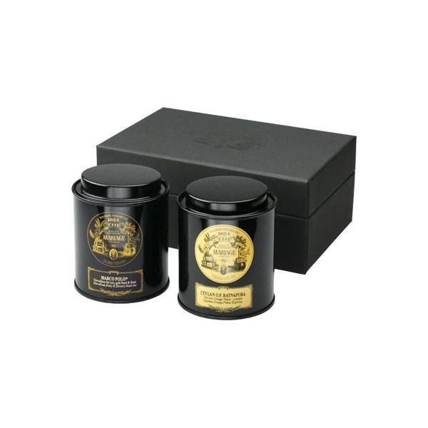 マリアージュ・フレール 紅茶(リーフティ−)の贈り物(マルコポーロ(50g)とセイロン ラトナピュラ(50g))|belleseve