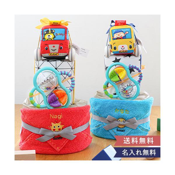 おむつケーキ K's Kids働く車おむつケーキ オムツケーキ 出産祝い K's kids ケーズキッズ  出産祝 男の子 ラトル バギー 車のおもちゃ