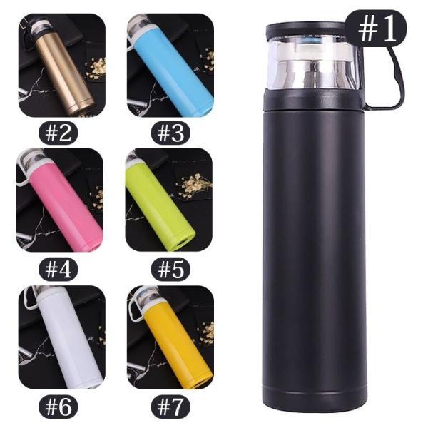 真空断熱 保温 保冷 水筒 ボトル 広口 ステンレスボトル 軽量 真空 おしゃれ シンプル コップ付き ワンボタンスイッチ|bellflowers|02