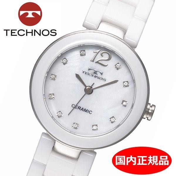 テクノス TECHNOS 腕時計 レディース セラミック TSL613TW