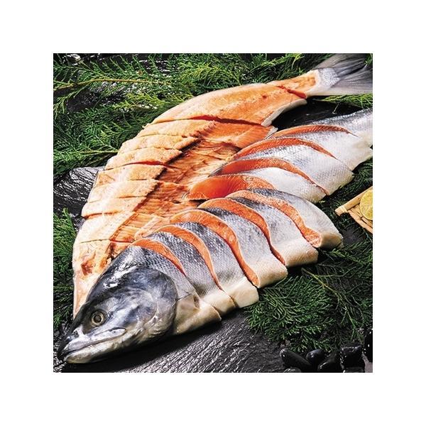 魚介 海鮮 魚 鮭 宗谷・オホーツク産 新巻鮭 寒仕上げ 姿切身 3L お歳暮 御歳暮 ギフト 贈り物 送料無料