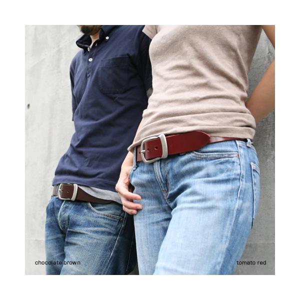 ベルト メンズ レディース 日本製 本革 カジュアル 牛革 レザーベルト 馬蹄型バックル|beltlab-y|04