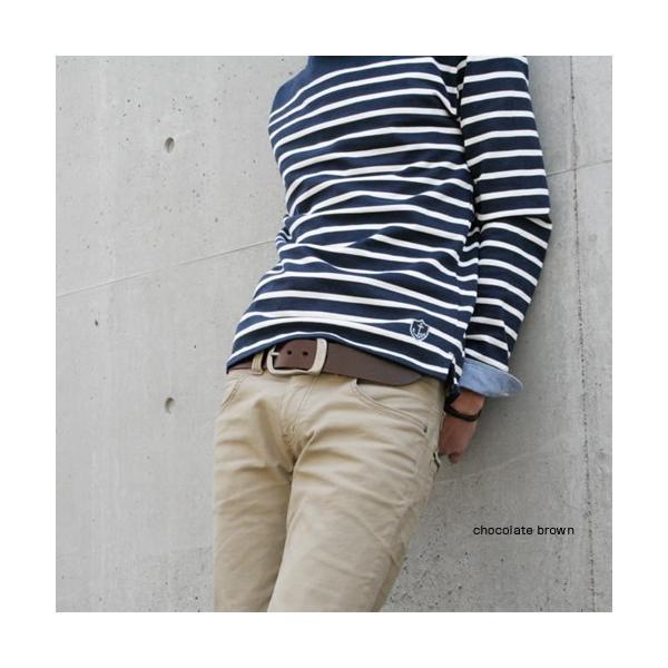 ベルト メンズ レディース 日本製 本革 カジュアル 牛革 レザーベルト 馬蹄型バックル|beltlab-y|08