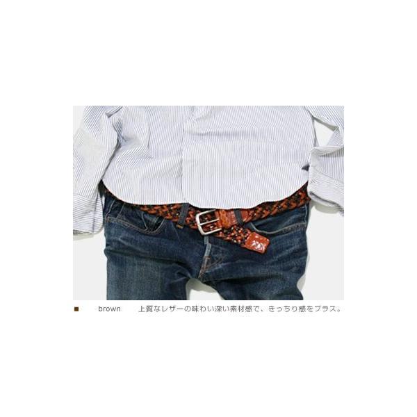 ベルト メンズ レディース メッシュベルト カジュアル 本革ベルト tricote トリコッテ|beltlab-y|03