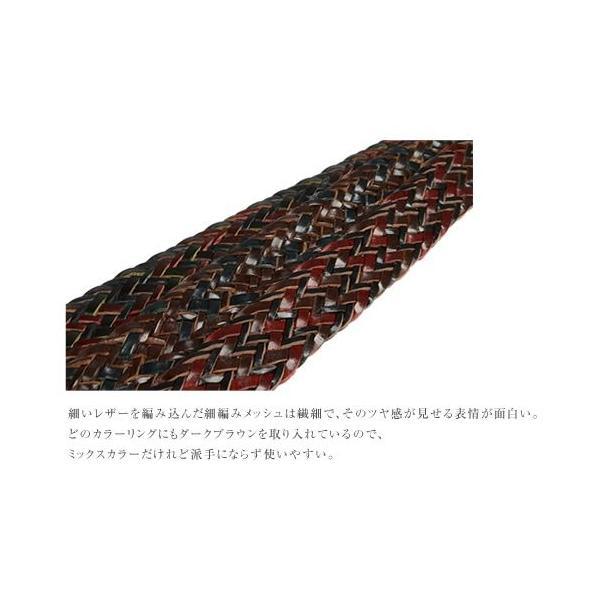 メッシュベルト メンズ レディース 本革ベルト 牛革 おしゃれ 大人 カジュアル tricote トリコッテ|beltlab-y|04