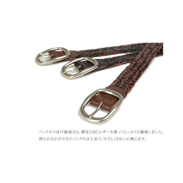 メッシュベルト メンズ レディース 本革ベルト 牛革 おしゃれ 大人 カジュアル tricote トリコッテ|beltlab-y|05