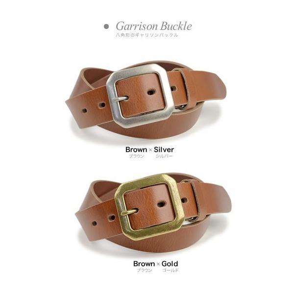 ベルト メンズ レディース 日本製 送料無料 4つのバックルと3つの革色 ベーシック 本革ベルト 牛革 レザー|beltlab-y|12
