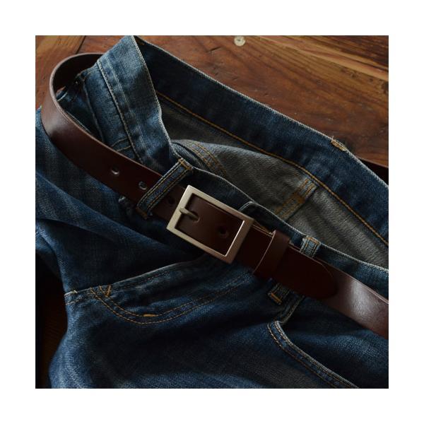 ベルト メンズ レディース 送料無料 日本製 栃木レザー/Nippon de Handmade/スマート 30mm デニム スーツ カジュアル ビジネス 本革|beltlab-y|11