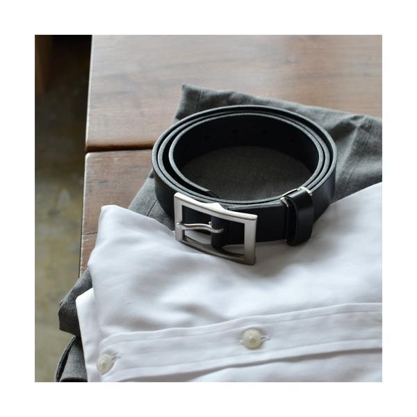 ベルト メンズ レディース 送料無料 日本製 栃木レザー/Nippon de Handmade/スマート 30mm デニム スーツ カジュアル ビジネス 本革|beltlab-y|04