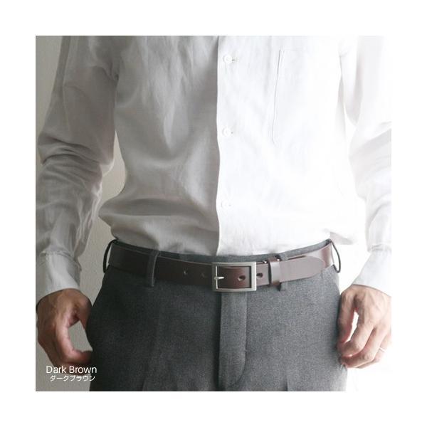 ベルト メンズ レディース 送料無料 日本製 栃木レザー/Nippon de Handmade/スマート 30mm デニム スーツ カジュアル ビジネス 本革|beltlab-y|08