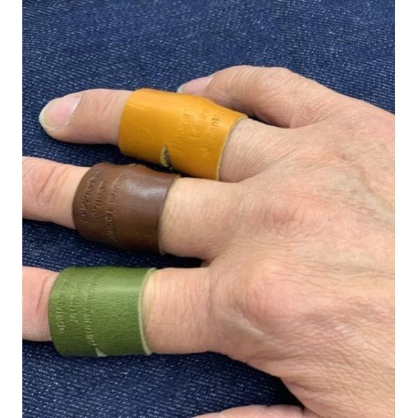 栃木レザー 革リング 非接触 タッチレス 本革指輪 レザーリング ボタン触らない 本革リング ボタン 二次接触防止 おすすめ 自社生産|beltokuda|07