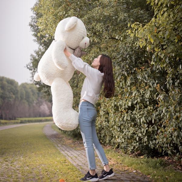 蝶ネックしてる シロ クマ ぬいぐるみ 大きい 100cm|beluhappines|02