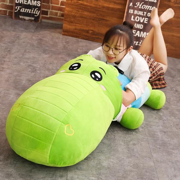 ぬいぐるみ 鰐 わに サイ かば ねむねむ抱き枕 クッション かわいい ふわふわ 誕生日プレゼント160cm|beluhappines|09
