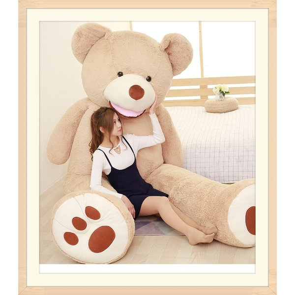 ぬいぐるみ  熊 クマ コストコ 巨大 テディベア 抱き枕 クリスマス 誕生日 プレゼント 可愛い インテリア 撮影道具 添い寝 200cm|beluhappines