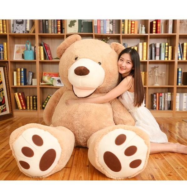 ぬいぐるみ  熊 クマ コストコ 巨大 テディベア 抱き枕 クリスマス 誕生日 プレゼント 可愛い インテリア 撮影道具 添い寝 200cm|beluhappines|05