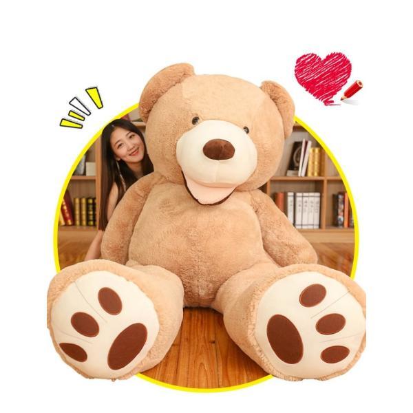 ぬいぐるみ  熊 クマ コストコ 巨大 テディベア 抱き枕 クリスマス 誕生日 プレゼント 可愛い インテリア 撮影道具 添い寝 200cm|beluhappines|06