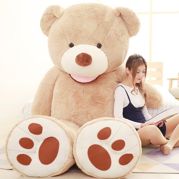 ぬいぐるみ  熊 クマ コストコ 巨大 テディベア 抱き枕 クリスマス 誕生日 プレゼント 可愛い インテリア 撮影道具 添い寝 200cm|beluhappines|07