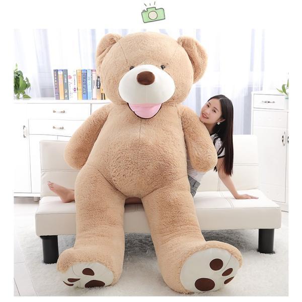 ぬいぐるみ  熊 クマ コストコ 巨大 テディベア 抱き枕 クリスマス 誕生日 プレゼント 可愛い インテリア 撮影道具 添い寝 200cm|beluhappines|08