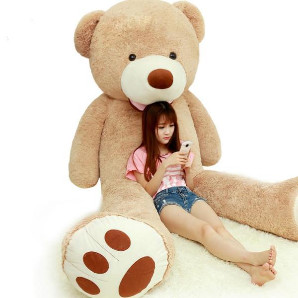 ぬいぐるみ  熊 クマ コストコ 巨大 テディベア 抱き枕 クリスマス 誕生日 プレゼント 可愛い インテリア 撮影道具 添い寝 200cm|beluhappines|09