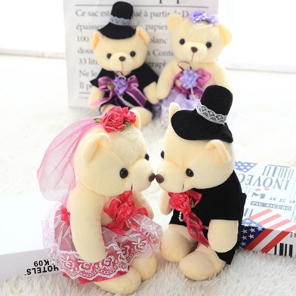 結婚式 ぬいぐるみ ウェディング くま クマ 熊 お祝い プレゼント 贈り物 花屋 飾り物 25cm|beluhappines|11