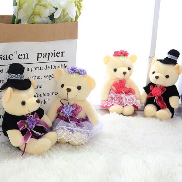 結婚式 ぬいぐるみ ウェディング くま クマ 熊 お祝い プレゼント 贈り物 花屋 飾り物 25cm|beluhappines|12