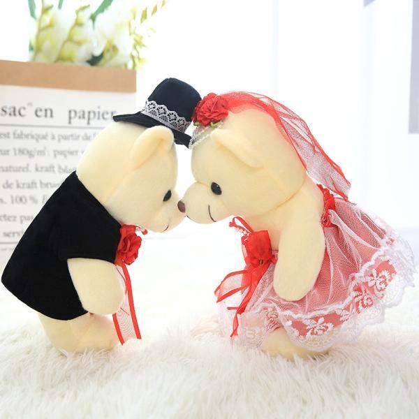 結婚式 ぬいぐるみ ウェディング くま クマ 熊 お祝い プレゼント 贈り物 花屋 飾り物 25cm|beluhappines|03
