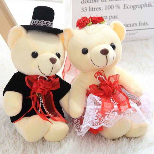 結婚式 ぬいぐるみ ウェディング くま クマ 熊 お祝い プレゼント 贈り物 花屋 飾り物 25cm|beluhappines|04