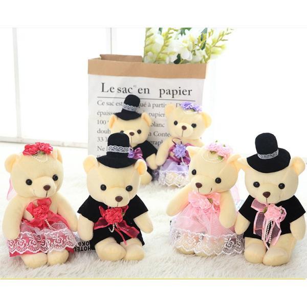 結婚式 ぬいぐるみ ウェディング くま クマ 熊 お祝い プレゼント 贈り物 花屋 飾り物 25cm|beluhappines|05