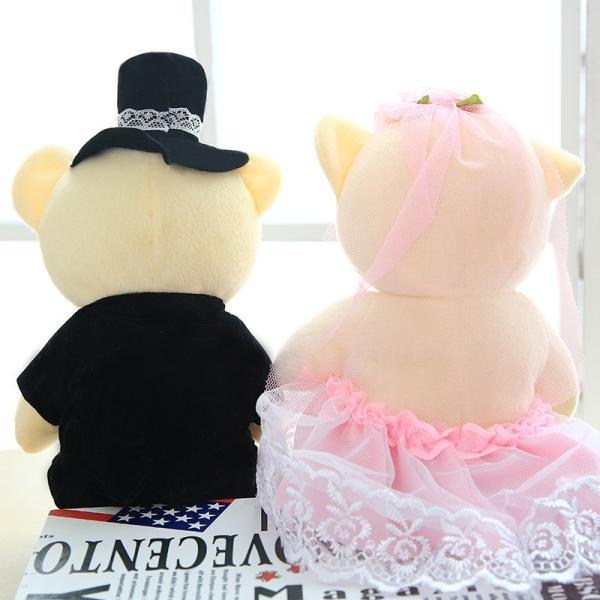 結婚式 ぬいぐるみ ウェディング くま クマ 熊 お祝い プレゼント 贈り物 花屋 飾り物 25cm|beluhappines|07