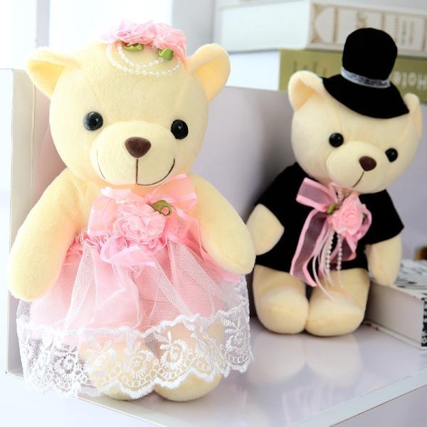 結婚式 ぬいぐるみ ウェディング くま クマ 熊 お祝い プレゼント 贈り物 花屋 飾り物 25cm|beluhappines|08