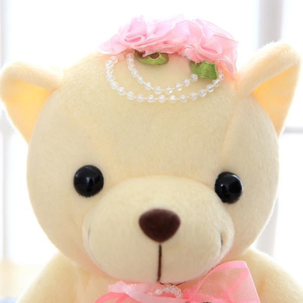 結婚式 ぬいぐるみ ウェディング くま クマ 熊 お祝い プレゼント 贈り物 花屋 飾り物 25cm|beluhappines|09